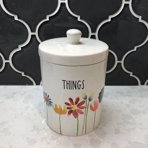 Rae Dunn THINGS Floral Jar